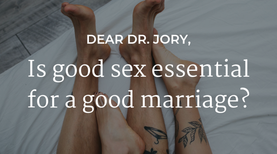 Is good sex essential for a good marriage?